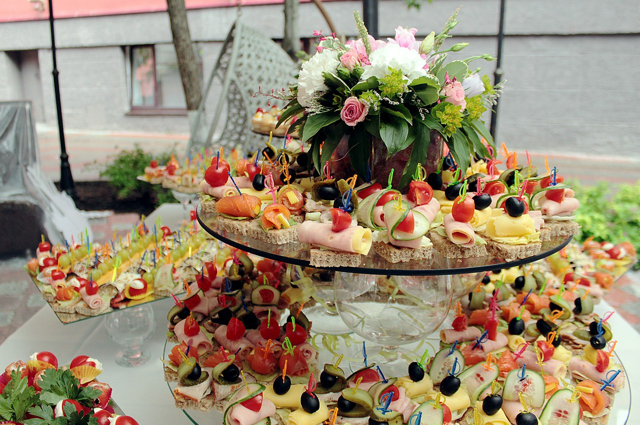 Фуршет на свадьбу дома меню фото